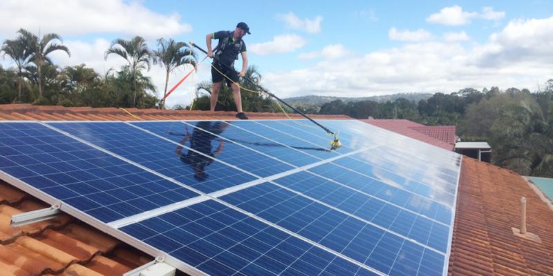 nettoyage panneaux solaire
